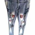 Mens Damaged Denim Jeans