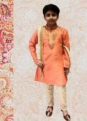 silk kurta pajama Boys Traditional Clothing, Size: 1-10 years