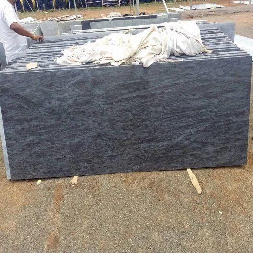 Black Granite Stone Polished Granite Slab, 15-20 Mm | ID