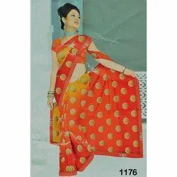 51809ddad9e097 Ladies Cotton Printed Saree