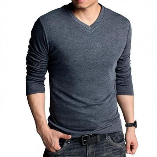aac30e83e2cd Mens Cotton Full Sleeve Dark Grey T Shirts, Size: M To XXL, Rs 120 ...