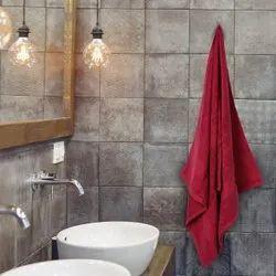 Plain Maroon Mafatlal Cotton Bath towel, For Home, Size: 75 X 150 Cms