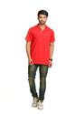 Adidas Red Men's Polo T-shirt
