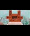 "Bricks Rectangular Hind Red Brick For Partition Walls, Size: 9""4""3"""