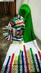 Cotton Block Print Molmol Saree