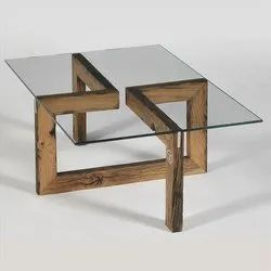 Brown Glass Designer Center Table