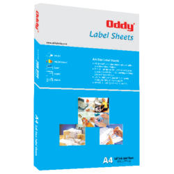 Oddy White Inkjet Labels Sheet