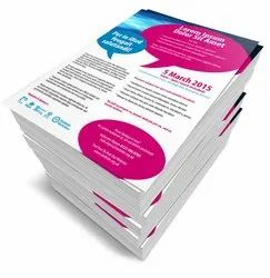 Multicolor Glossy Paper Pamphlets / Flyer / Leaflet Printing