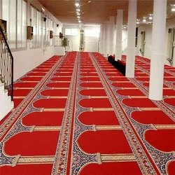 Multicolor Mosque Carpet, Size: 4x25 Feet