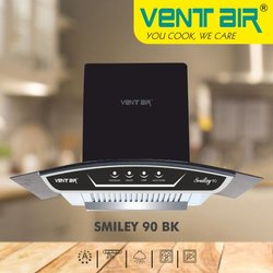 Smiley 90 BK Ventair Kitchen Chimney