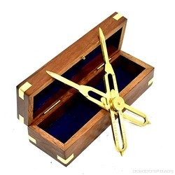 Solid Brass Proportional Divider with Wooden Box