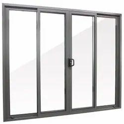 Chamunda Enterprises Chrome Aluminium Sliding Window, For Office