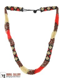 Red Multi Seed Beads Necklace