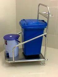 Hospital Dustbin Trolley