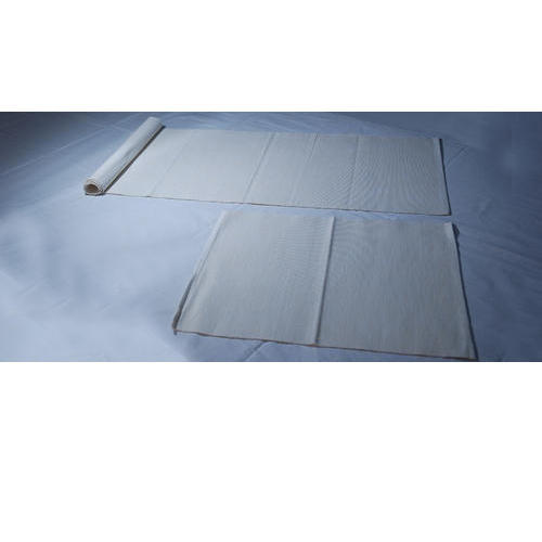 Sky Blue Pure Cotton Ribbed Table Runner