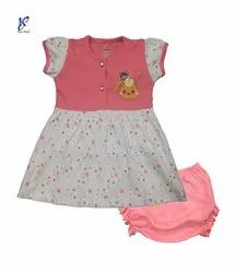 BABY GIRL PRINTED FROCK WITH PANT
