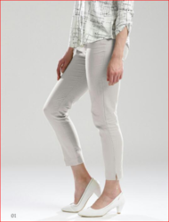 Women White Casual Pant