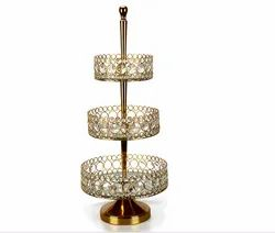 Metal Crystal Cake Stand for Home Decor and Wedding