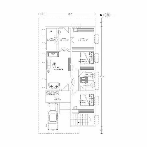 Commercial Building Floor Plan in