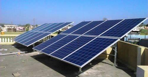 Mounting Structure Grid Tie Residential Solar Rooftop System for Commercial, Capacity: 50kw