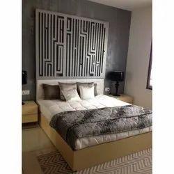 Brown Wooden Fancy Bed