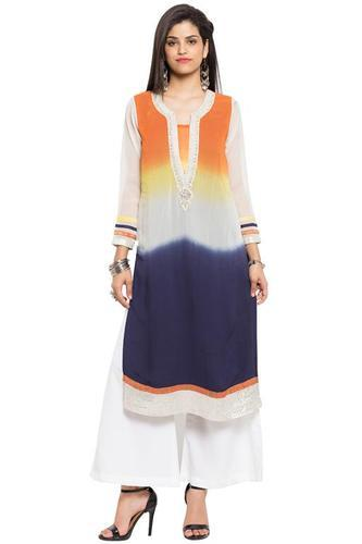 Ladies Georgette Embroidered Kurtis