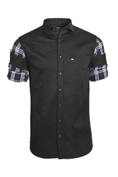 Mens Designer Black Casual Shirt