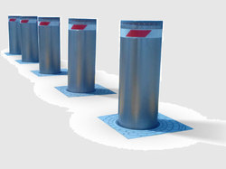 Automatic Rising Hydraulic Bollards