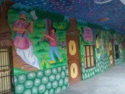 Interior School Wall Painting