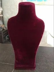 Maroon Velvet Jewelry Display Stand