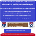 Dissertation Writing Services In Jaipur