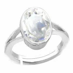Sphatik Ring Silver Gemstone
