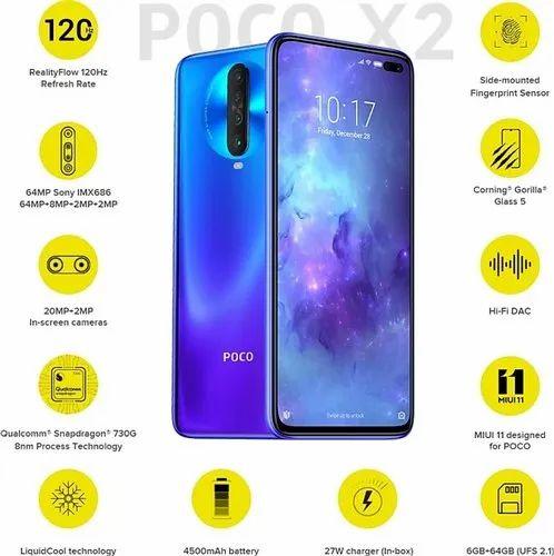 BLUE Slim Xiaomi Poco X2, Android, Dimension: 76*165*8, Rs 17499 ...