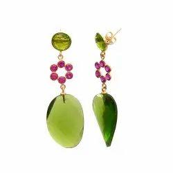 Peridot & Pink Tourmaline Hydro Earring