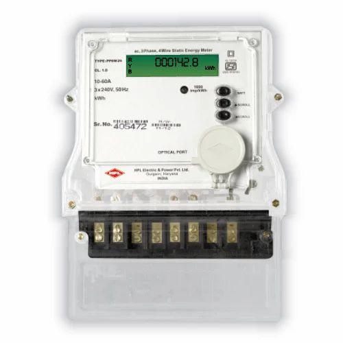 HPL Make 3 Phase Net Meter, Voltage: 3x 240 V