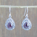 925 Sterling Silver Jewelry Garnet Gemstone Wholesale Earring