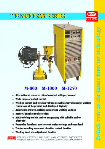 Semi Automatic Ador Fontech Submerged Arc Welding Machine Rs 400000 One Id 15310729955