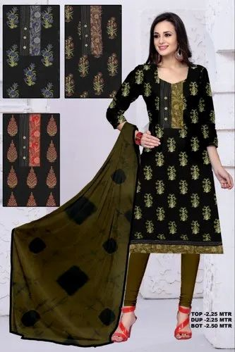 4e367eb165 Casual Wear Ladies Printed Cotton Suit, Rs 399 /piece, F. K. ...