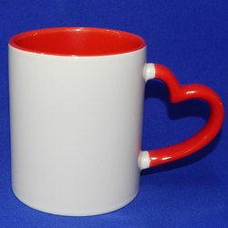 Heart Handle Inside Color Sublimation Mug