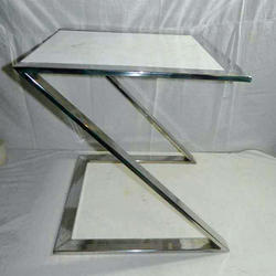 Steel Fancy Table, Size: 18 inch
