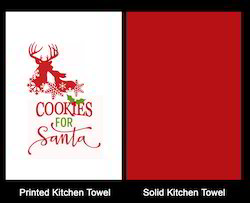 Leaping Reindeer Christmas Tea Towel