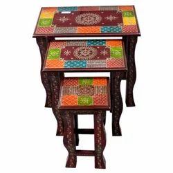 Wooden Designer Table Set