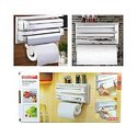Triple Paper Dispenser 4 in 1 Foil Cling Film Tissue Paper Roll Holder 712-4