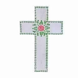 Wooden Handmade Handpainted Wooden Decorative Wall Mounted Cross Multicolor Decorative Item