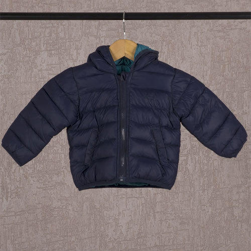 Blue Plain Kids Jacket