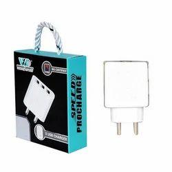 White 3 Port Mobile Adapter