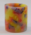 Colorful Textured Pillar Candles