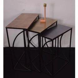 Rectangle Aluminium Iron Nesting table