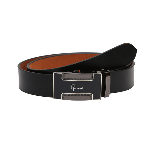 Hawai Black Men   Leather Belt