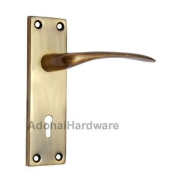 Abiah Iron Door Handle With Plate